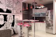 Фото 8 По стопам Энди Уорхола: подборка ярких интерьеров с обоями и постерами в стиле поп-арт