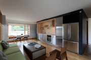 Фото 10 Как обустроить компактное спальное место на кухне? Дизайнерские идеи и варианты