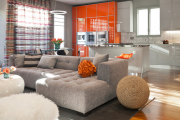 Фото 21 Как обустроить компактное спальное место на кухне? Дизайнерские идеи и варианты