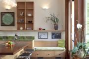 Фото 29 Как обустроить компактное спальное место на кухне? Дизайнерские идеи и варианты