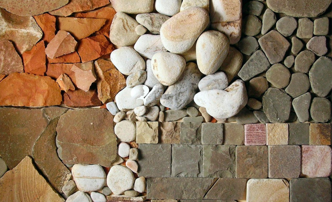 Пример раскладки облицовочного материала