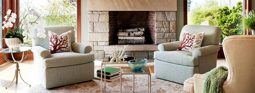 Стильный каменный век: 60+ идей отделки камина камнем в интерьере