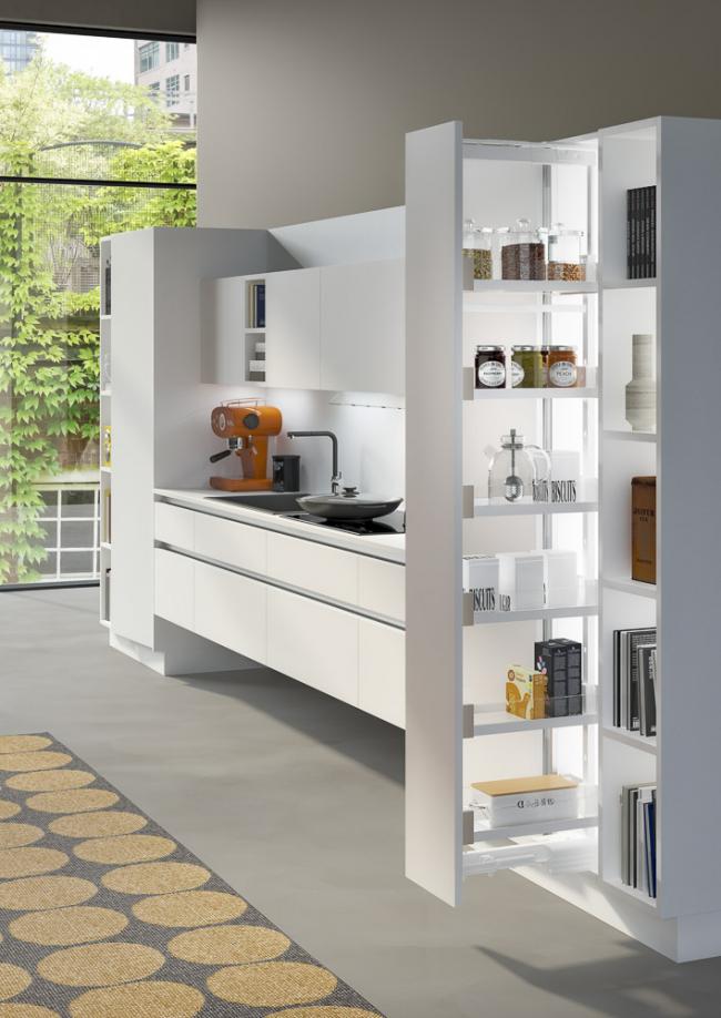 Идея для большей компактности кухонного пространства