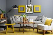 Фото 8 Гостиная в сером цвете: советы дизайнеров и варианты комбинаций с другими оттенками