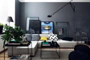 Фото 4 Гостиная в сером цвете: советы дизайнеров и варианты комбинаций с другими оттенками