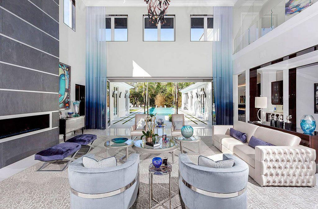 Интерьер гостиной в сером цвете 60 фото Сочетания; Дизайн