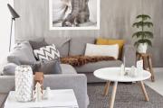 Фото 2 Интерьер гостиной в сером цвете (60+ фото): секреты гармоничного дизайна и лучшие сочетания серого