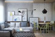 Фото 35 Гостиная в сером цвете: советы дизайнеров и варианты комбинаций с другими оттенками