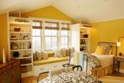 Фото 6 Охра, лимонный и цитриновый: 60+ теплых идей для дизайна спальни в желтых тонах