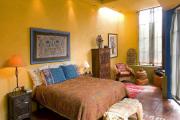 Фото 11 Охра, лимонный и цитриновый: 60+ теплых идей для дизайна спальни в желтых тонах