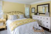 Фото 27 Охра, лимонный и цитриновый: 60+ теплых идей для дизайна спальни в желтых тонах