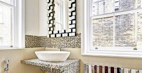 Выбираем столешницу для ванной из мозаики: дизайн, материалы и особенности укладки фото