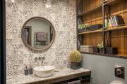Фото 9 Выбираем столешницу для ванной из мозаики: дизайн, материалы и особенности укладки