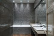 Фото 17 Выбираем столешницу для ванной из мозаики: дизайн, материалы и особенности укладки