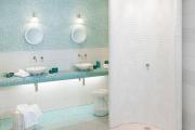 Фото 33 Выбираем столешницу для ванной из мозаики: дизайн, материалы и особенности укладки