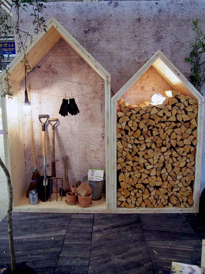 Дровница для дома Варианты укладки и изготовление