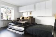 Фото 11 Советы дизайнеров: как спланировать зонирование и интерьер спальни-гостиной на 17 кв. м