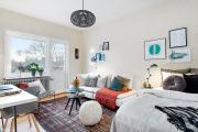 Фото 17 Советы дизайнеров: как спланировать зонирование и интерьер спальни-гостиной на 17 кв. м