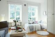 Фото 18 Советы дизайнеров: как спланировать зонирование и интерьер спальни-гостиной на 17 кв. м