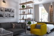 Фото 23 Советы дизайнеров: как спланировать зонирование и интерьер спальни-гостиной на 17 кв. м