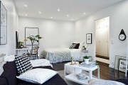 Фото 26 Советы дизайнеров: как спланировать зонирование и интерьер спальни-гостиной на 17 кв. м