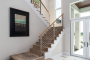 Фото 4 П-образная лестница на второй этаж: виды конструкций и особенности выбора материалов