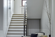 Фото 12 П-образная лестница на второй этаж: виды конструкций и особенности выбора материалов
