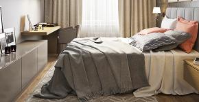 От дизайн-проекта к подбору аксессуаров: cоздаем дизайн  спальни площадью 14 кв. м фото