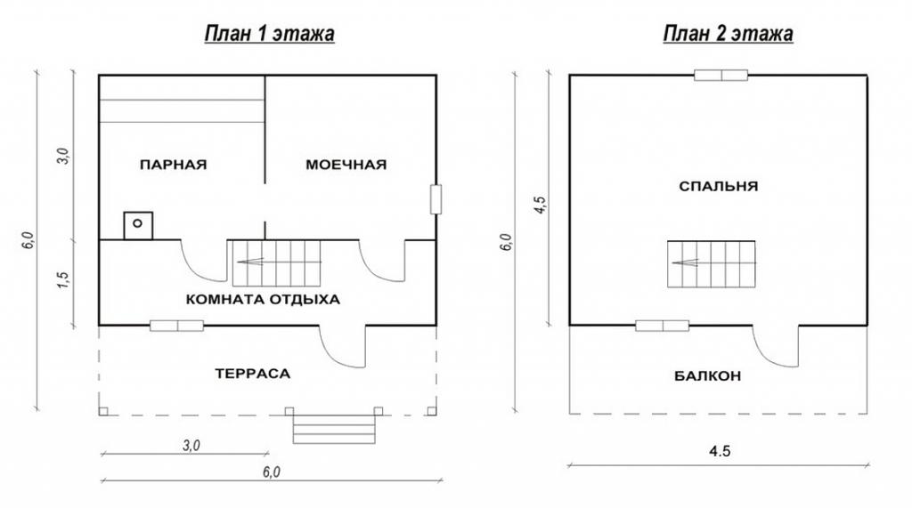Баня 6 на 6 с мансардой Варианты проектов и строительство
