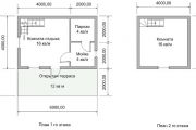 Фото 26 Баня 6х6 метров с мансардой: современные готовые проекты и этапы строительства