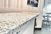 Фото 5 Бетонная столешница на кухне (80+ фото моделей): плюсы-минусы, уход и монтаж своими руками