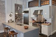 Фото 17 Бетонная столешница на кухне (80+ фото моделей): плюсы-минусы, уход и монтаж своими руками