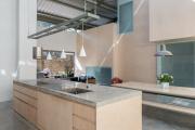 Фото 18 Бетонная столешница на кухне (80+ фото моделей): плюсы-минусы, уход и монтаж своими руками