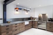 Фото 1 Бетонная столешница на кухне (80+ фото моделей): плюсы-минусы, уход и монтаж своими руками