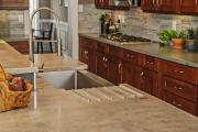 Фото 19 Бетонная столешница на кухне (80+ фото моделей): плюсы-минусы, уход и монтаж своими руками