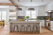 Фото 24 Бетонная столешница на кухне (80+ фото моделей): плюсы-минусы, уход и монтаж своими руками