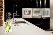 Фото 26 Бетонная столешница на кухне (80+ фото моделей): плюсы-минусы, уход и монтаж своими руками