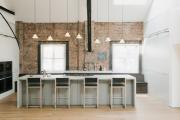 Фото 29 Бетонная столешница на кухне (80+ фото моделей): плюсы-минусы, уход и монтаж своими руками