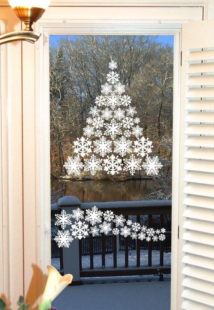 Как украсить окна на новый своими руками