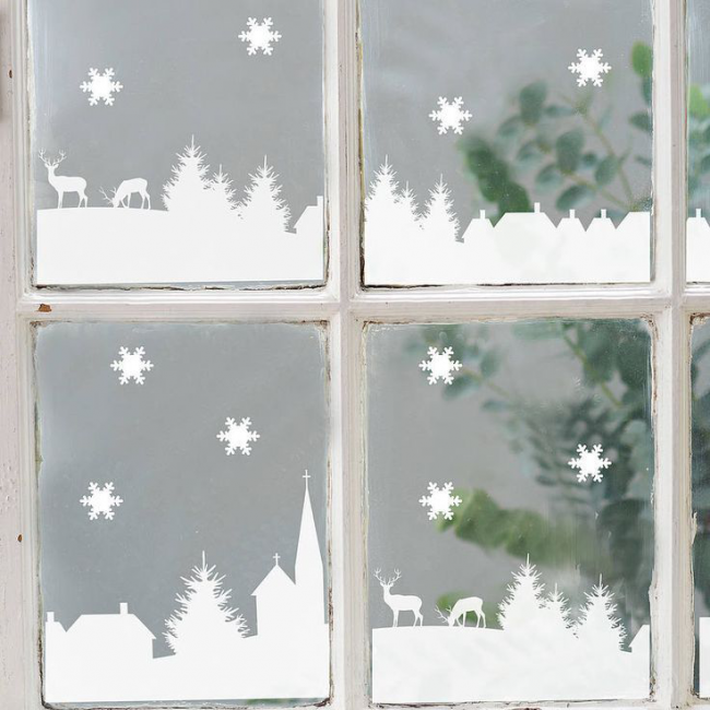 Как украсить окно на Новый год? Идеи и вараинты своими руками