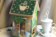 Фото 9 Декупаж чайного домика (85+ фото): простые в исполнении мастер-классы и советы рукодельниц