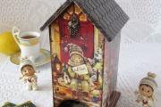 Фото 20 Декупаж чайного домика (85+ фото): простые в исполнении мастер-классы и советы рукодельниц