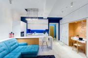 Фото 7 Дизайн студии площадью 30 кв. метров: современные проекты и продуманные планировки