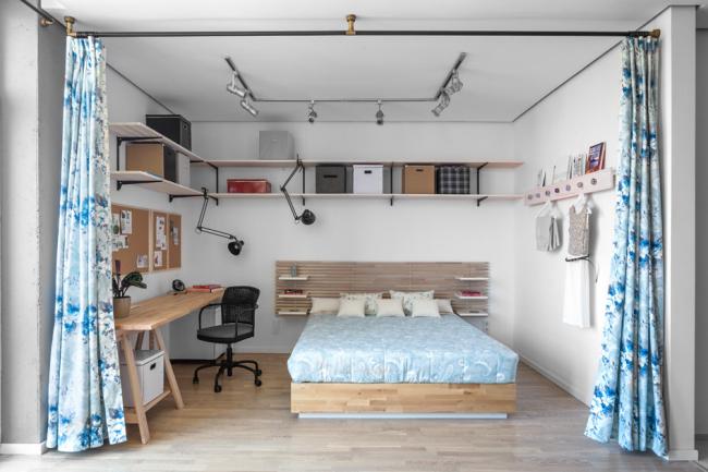 Отличное совмещение спальни и зоны отдыха
