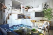 Фото 20 Дизайн студии площадью 30 кв. метров: современные проекты и продуманные планировки