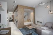 Фото 9 Дизайн студии площадью 30 кв. метров: современные проекты и продуманные планировки