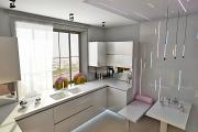 Фото 23 Как обустроить дизайн небольшой кухни 7 кв. м? Советы дизайнеров по планировке и отделке