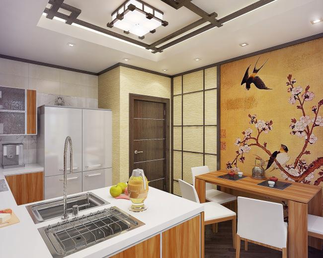 Теплые природные тона такой кухни создают неповторимую атмосферу уюта