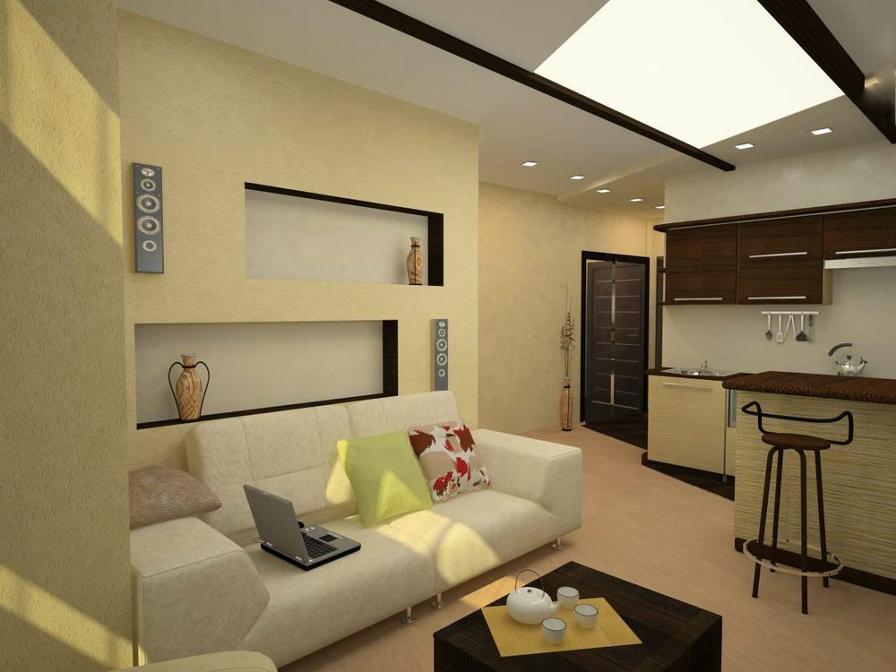 Идея интерьера квартиры студии 25 кв.м фото