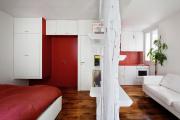 Фото 9 Компактные решения: создаем дизайн студии площадью 25 кв. метров с балконом